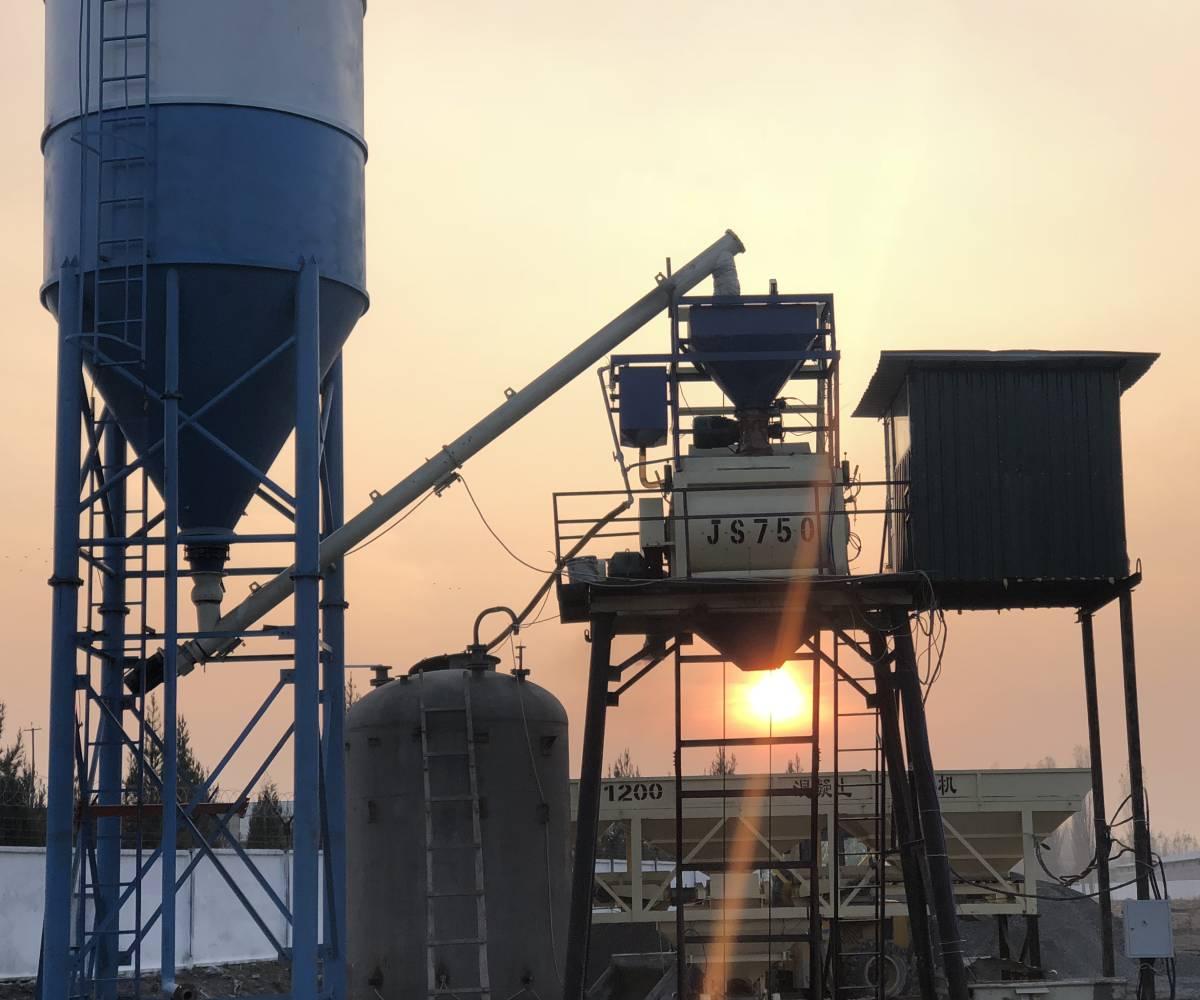 Новый бетонный завод HZS35 в Коканде