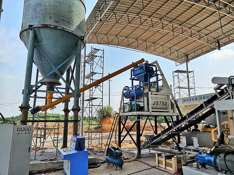Бетонный завод по производству бетонных блоков