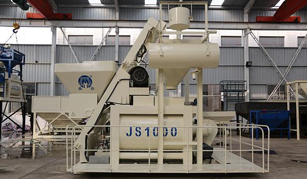 Двухвальный бетоносмеситель JS1000