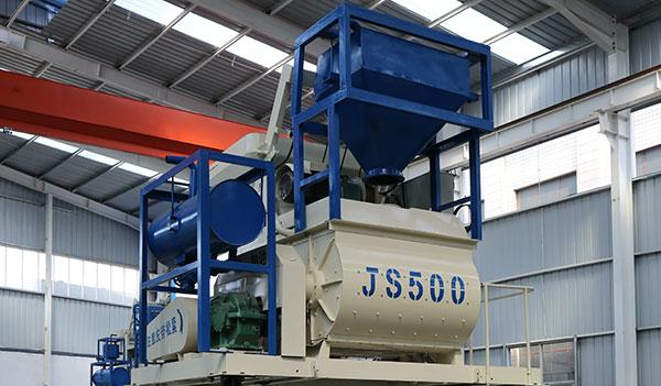 Двухвальный бетоносмеситель JS500